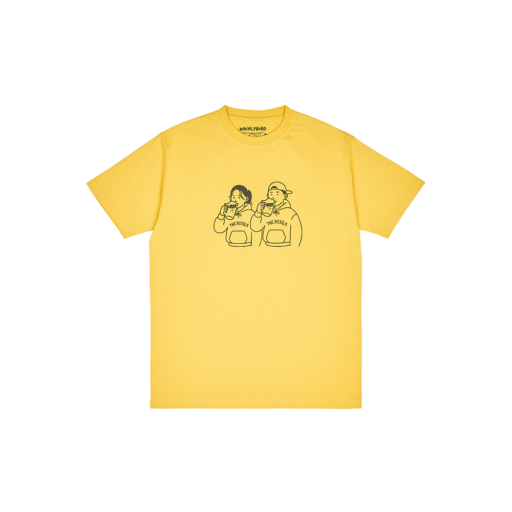 BEER COUPLE TEE [CORN YELLOW]