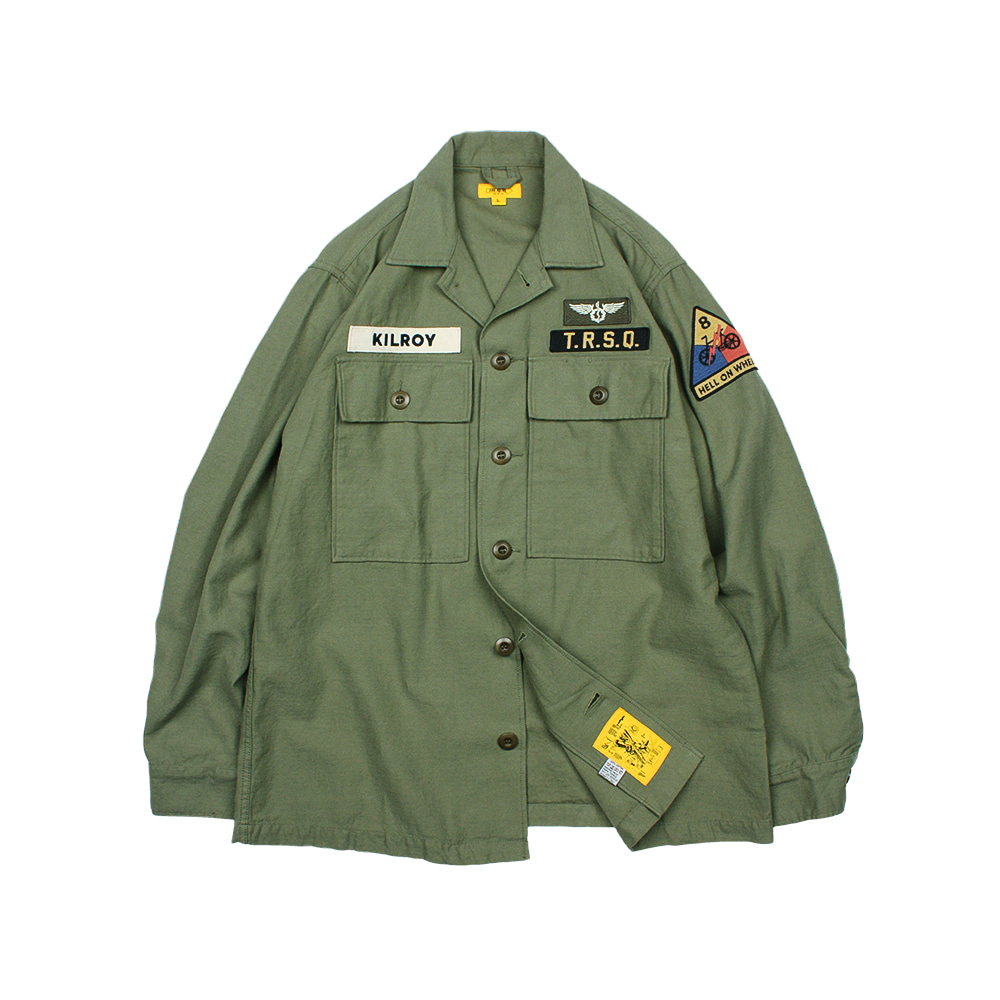 KILROY PATCH SHIRT [OLIVE GREEN]